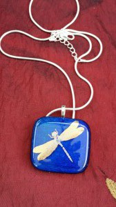 Pendant with gold decal